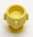 Female non-vented cap, yellow. Material: Polycarbonate. Model 1076