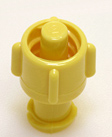 Universal Male/Female non-vented cap, yellow. Material: Polycarbonate. Model 1136